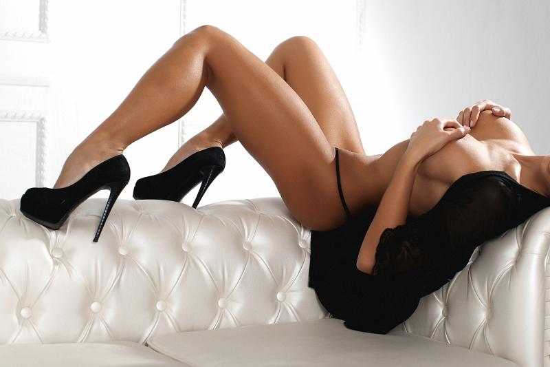 Sexy en talons hauts